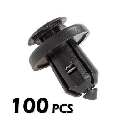 100x Front Bumper Push Type Retainer W/ Metal Insert Clips for Honda