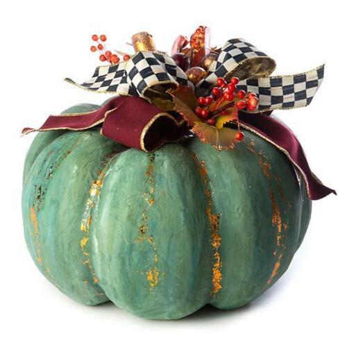 Mackenzie Childs Verdigris Pumpkin - Large