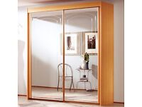 Full Mirror Double Door Sliding Wardrobe, Please read description