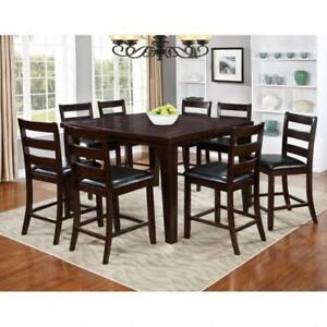 Solid wood Pub Height 7 PC Dining Set (BR213)