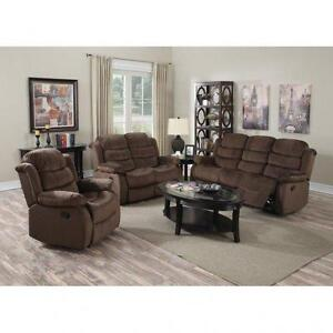 SOFA AND LOVESEAT WITH RECLINING ENDS