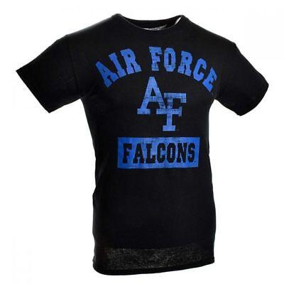 AIR FORCE ACADEMY FALCONS NCAA BLACK BLOCK PRINT S/S TEE T SHIRT SIZES L XL NWT