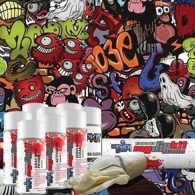 Hydro Dipping Water Transfer Printing Hydrographic Kit Monster Graffiti Dd-958