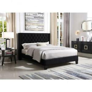 BLACK BED | BEDROOM FURNITURE  (BR2300)
