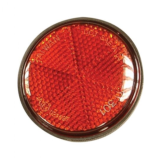 BICYCLE CYCLE BIKE MUDGUARD ROUND RED REFLECTOR 59mm - RE838B