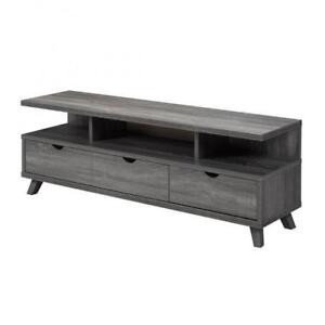 Grey wooden TV stand with drawers (BD-1930)