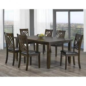 Extendable 7 PC Wooden Dining Set on Sale(BD-1805)