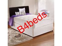 DOUBLE DIVAN BED WITH ORTHOPAEDIC or MEMORY FOAM MATTRESS