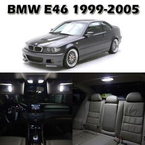 16 White Interior LED Light Package Full Set Lamp For BMW E46 Sedan Wagon Coupe