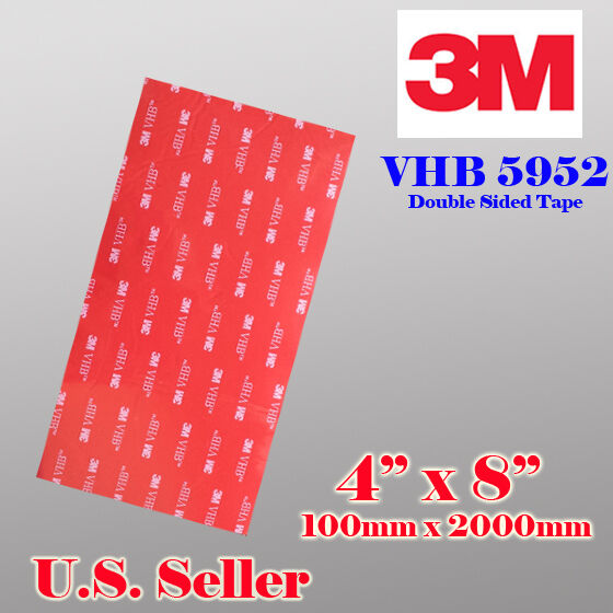 "3M 4"" x 8""   VHB Double Sided Foam Adhesive Tape 5952"
