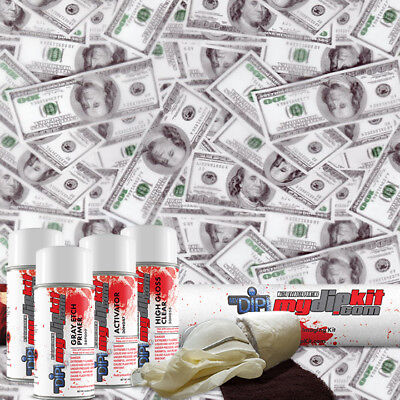Hydro Dipping Water Transfer Printing Hydrographic Dip Kit 100 Bills Ll-940