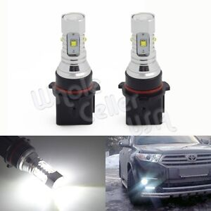 2x for Driving Light Fog DRL lights White High Power P13W Cree XB-D LED