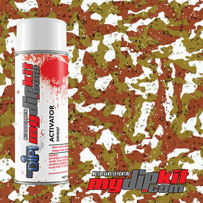 Hydrographic Activator Hydro Dipping Transfer Film Combo Green Tan Camo Mc0-14