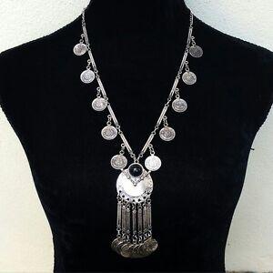 Bohemian Ethnic Tribal Turkish Coin Necklace Boho Gypsy Hippie Coachella Jewelry