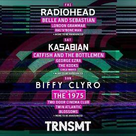 2 x TRNSMT - Weekend Tickets - 8th and 9th July - £100 per ticket o.n.o