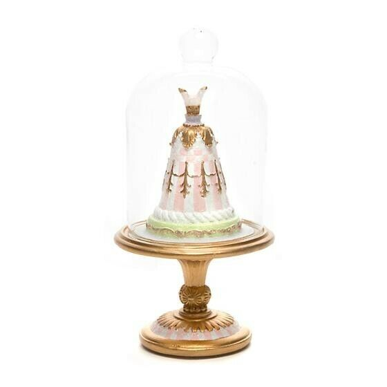 *NEW* MACKENZIE-CHILDS Pastel Confections Petite Cake Cloche - Pink *List $78.00