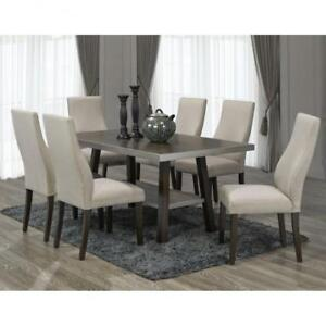 Contemporary 7 PC Wooden dining Set (BD-1816)