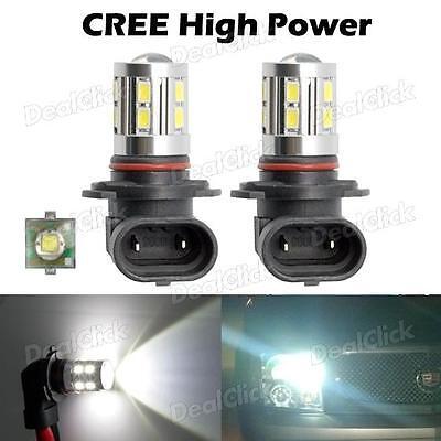 2x White Cree 9005 9145 Led Bulb For 2013 TOYOTA Prius Daytime Running Light