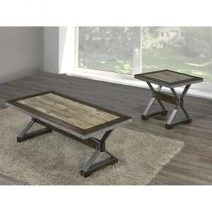 Solid Wood Rustic Coffee Table (BR708)