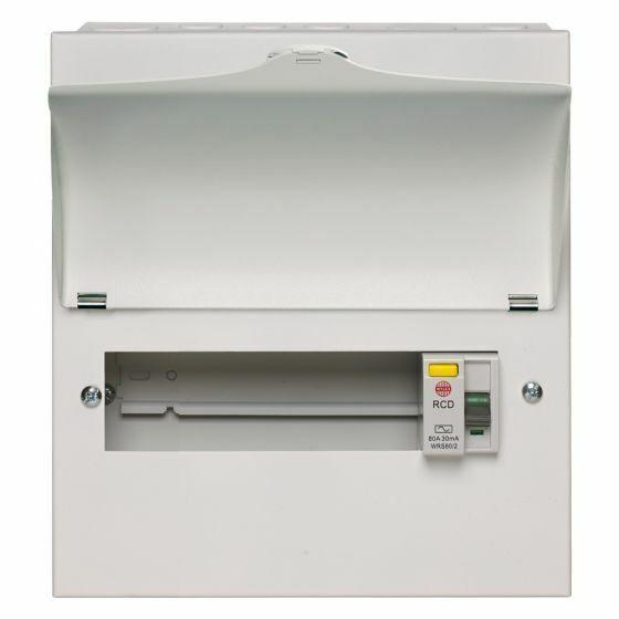 Wylex NMRS506L Amendment 3 Metal 5 way Consumer Unit 100A 30mA RCD C//W 5 MCB/'s