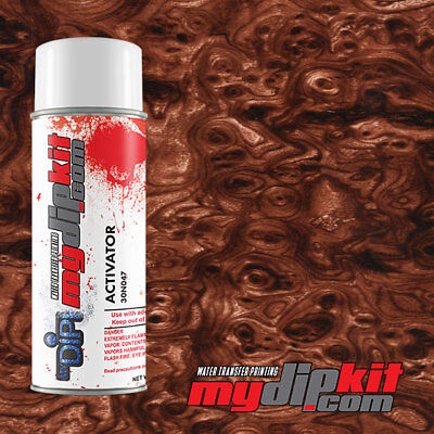 Hydrographics Activator Hydro Dip Water Transfer Film Combo Burl Wood Bw-18-10