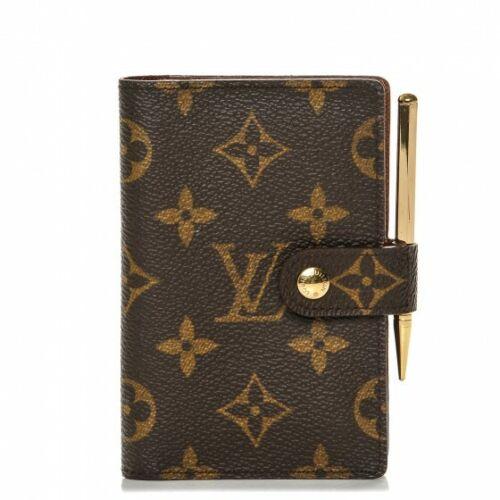LV Louis Vuitton Monogram Mini Agenda Case Day Planner Cover Pm Pencil
