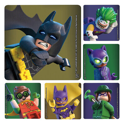 Lego Batman Birthday Party Supplies (25 Batman Lego Movie STICKERS Party Favors Supplies Birthday Treat Loot)