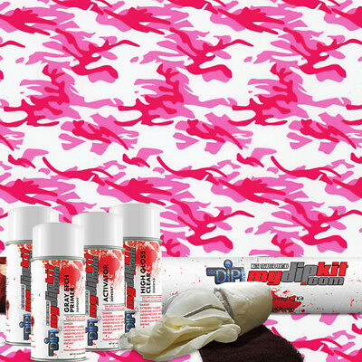 Hydro Dipping Water Transfer Printing Hydrographic Film Dip Kit Pink Camo Mc-240