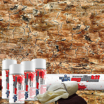 Hydrographic Film Kit Hydro Dipping Water Transfer Printing Rustic Wood Dd-935