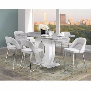 7 PC PUB HEIGHT DINNING TABLE SET-ONLINE MATTRESS SALE BRAMPTON- CALL 905-451-8999 (BF-50)