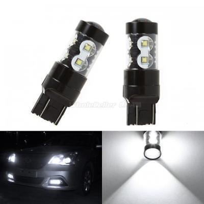 900 Lumen White 7443 60W High Power LED Daytime Running Light DRL Bulb Lamps Set