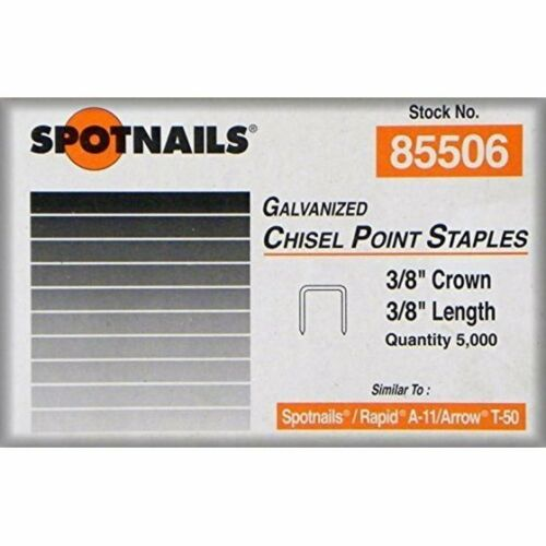 "Spotnails 85506 3/8"" Staples - Fits Arrow T50 Rapid A-11 (100,000) 3/8"" Crown"