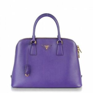Authentic Prada Purse: Beautiful Purple Saffiano Leather