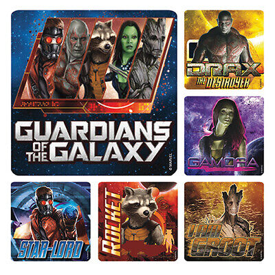 25 Guardians Of The Galaxy Stickers Party Favor Teacher Supply Groot Rocket ](Party Rocket)