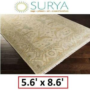NEW SURYA ANTIQUE RUG 5.6'x8.6' ATQ-1000-5686 158491913 RUGS CARPET FLOORING DECOR ACCENTS MATS PADS