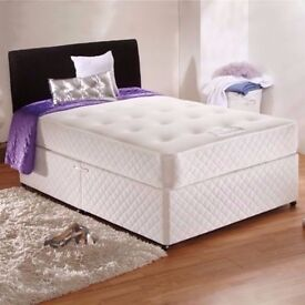 1000 POCKET SPRUNG MATTRESS WITH LUXURY DIVAN BASE + 1 YEAR MANUFACTURING WARRANTY - ContacT Now
