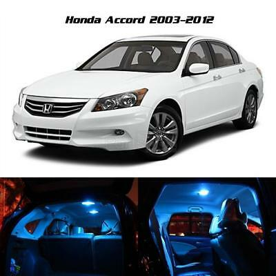 8 LED Ice Blue Interior Light Bulb Package Deal for Honda Accord 2003-2012 +Gift
