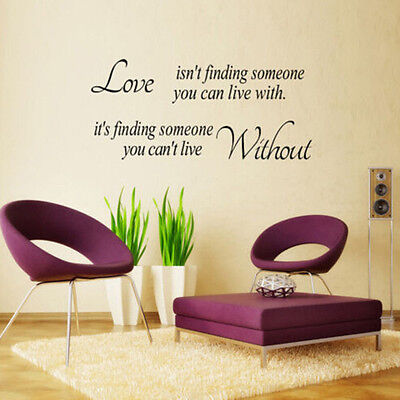 Love Isnt Finding Someone Removable Quote Wall Stickers Home Decal Vinyl Decor