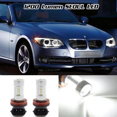Light Bulb Rings - White 1200 Lumen 80W SEOUL LED Angel Eye Halo Ring Marker H8 Light Bulb for BMW