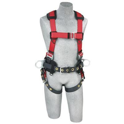 Protecta 1191209 Pro Line Construction Vest Style Full Body Harness Ml Red