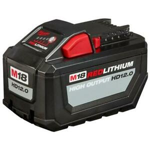 Milwaukee M18 18-Volt Lithium-Ion 12.0Ah High Output Battery