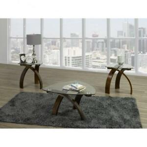 Triangular glass Top Coffee Table (BD-1949)