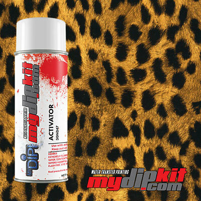 Hydrographic Activator Kit Hydro Dip Water Transfer Film Combo Cheetah Ap 033
