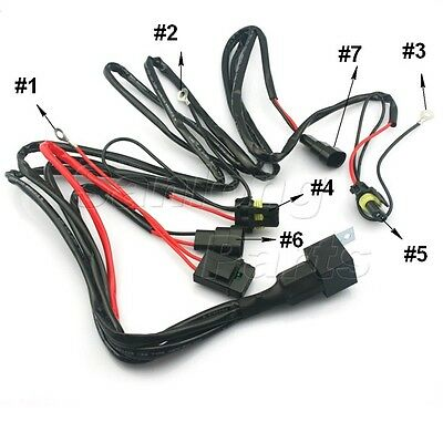 4x 1157 1158 2057 2357 Plug Wiring Harness Sockets For