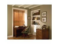Wooden Blind with coordinating tape Width 208cm x Length 107cm