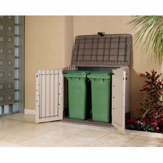 Weather Resistant Outdoor Storage Organizer Resin Storage Sh
