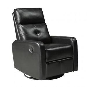 Bonded leather recliner swivel glider chair BR04 JF657 (BD-1316)