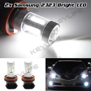 2x H8 H11 15W HID White 15-LED SMD Fog/Driving DRL Light Bulbs Replacement 6000K