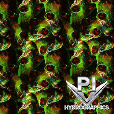 Hydrographic Film Hydro Dipping Water Transfer Printing Image Toxic Skulls