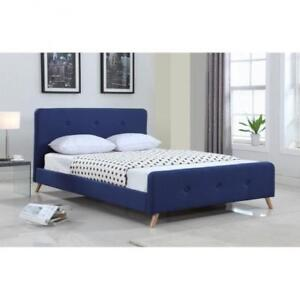 Queen Tufted Blue Platform Bed web exclusive deal (BR685)